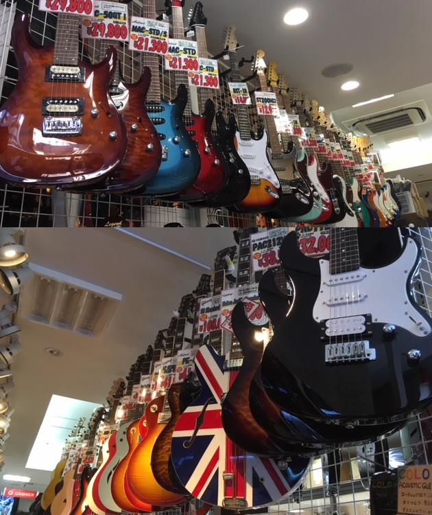 店内エレキギター
