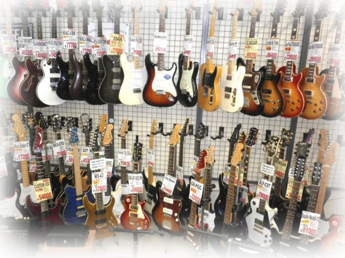 松戸店ギター売り場
